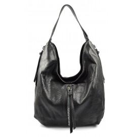 vysoká moderní větší černá kabelka na rameno Jeris 7d94b147e4