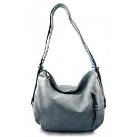 Praktická světle modrá kabelka a batůžek v jednom Marry two - KabelkyZeSveta e10b9a0fb6c
