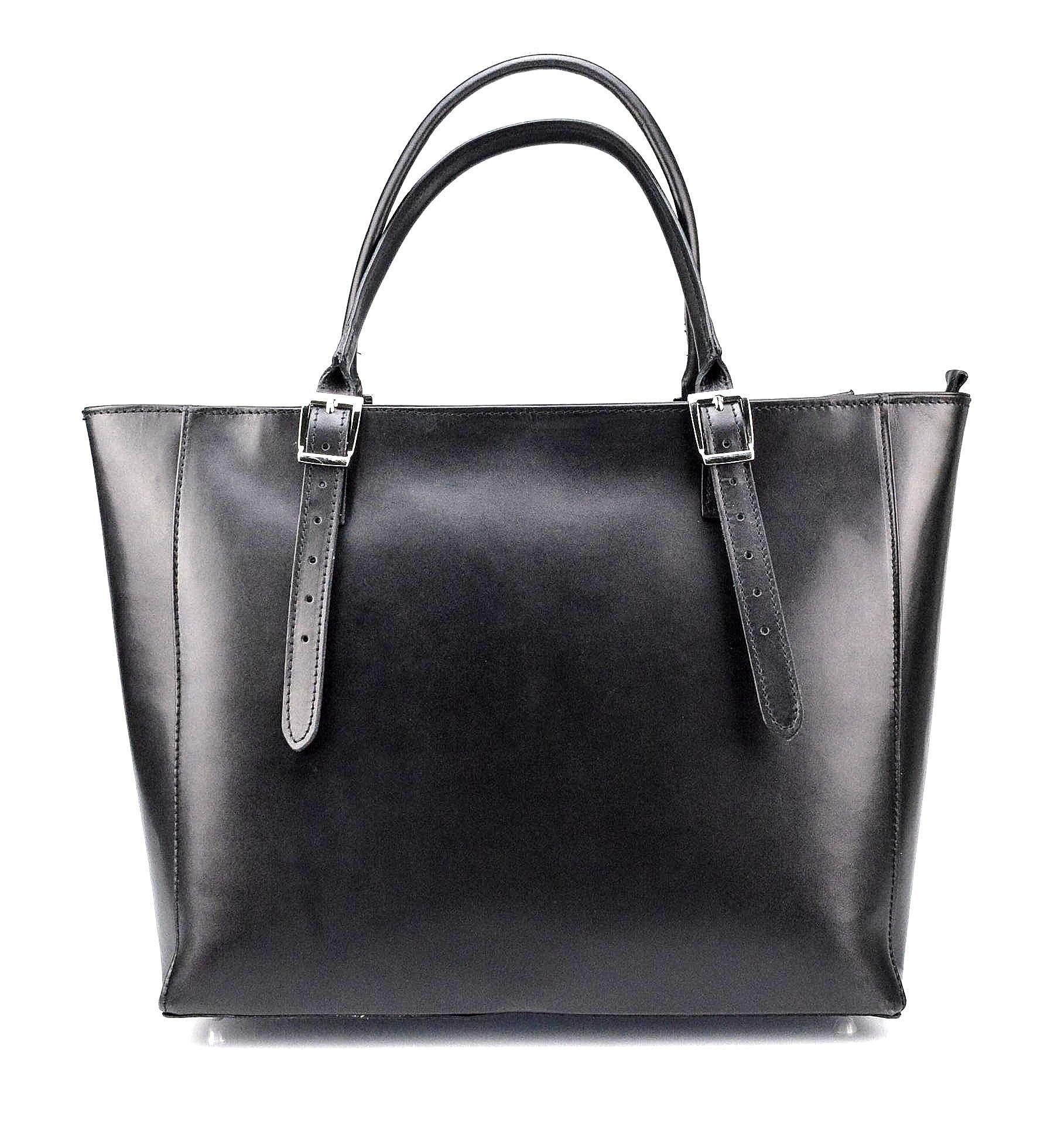 4c61957f1a2 Kožená luxusní velká černá kabelka Havelan - KabelkyZeSveta
